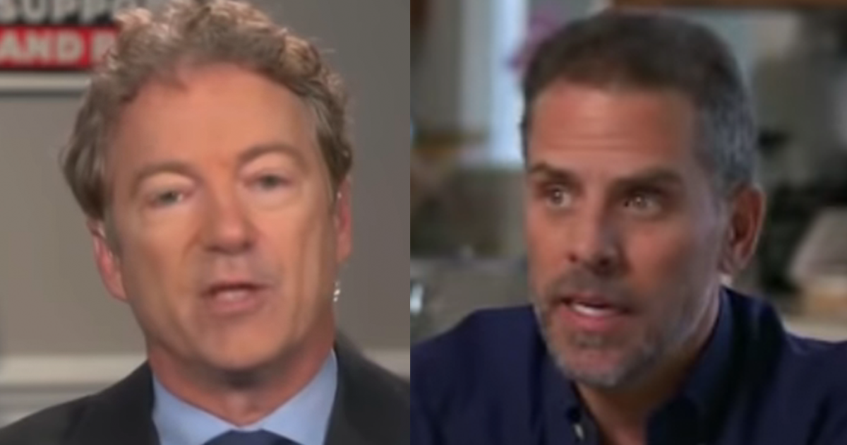 BREAKING: Rand Paul May Force a Vote to Bring Hunter Biden in as a Witness