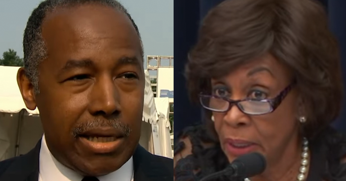 "Ben Carson Sends Blistering Letter to Maxine Waters, Says ""Basic Manners Elude You"""