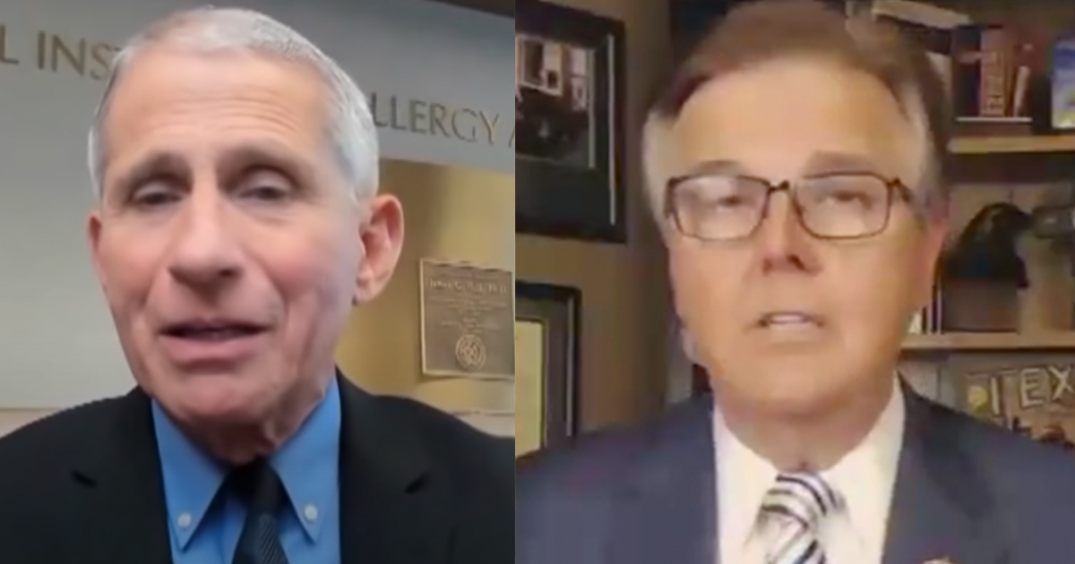 "WATCH: Texas Lt. Governor lambasts Fauci ""He has been wrong every time, on every issue"""
