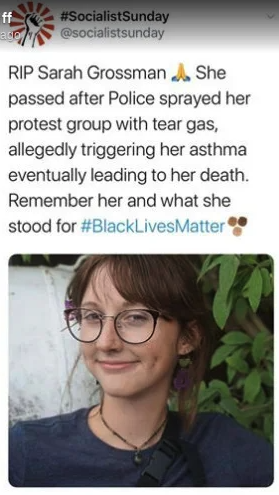 Autopsy shows Ohio protester, 22, died of natural causes, not pepper spray