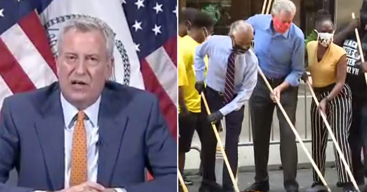 """De Blasio """"What I decided to do with"""" BLM Murals """"transcends all normal realities"""""""