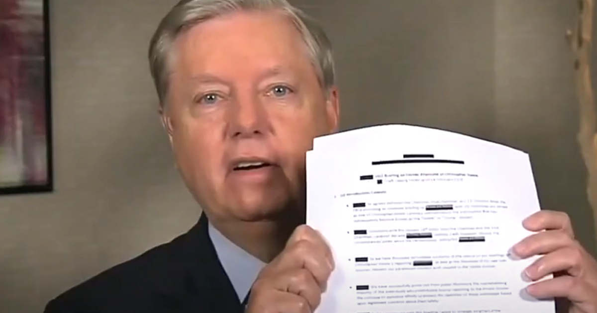"""""""Somebody needs to go to jail for this"""" Graham releases new declassified docs on Steele dossier"""