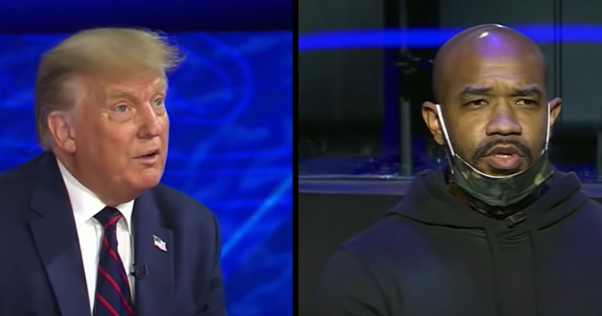 """Man asks Trump During Town Hall """"When has America been great for African Americans in the Ghetto?"""""""