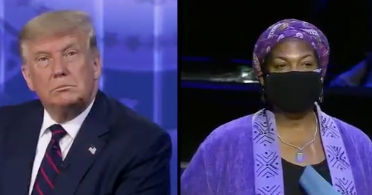 "Woman Interrupts Trump as he tries to Answer Her ""Please stop and let me finish my question, sir"""