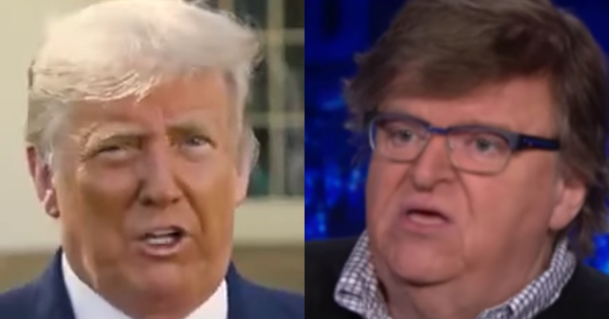 """Michael Moore taunts Trump as he exits """"Trial. Conviction. Imprisonment. He must pay for his actions"""""""