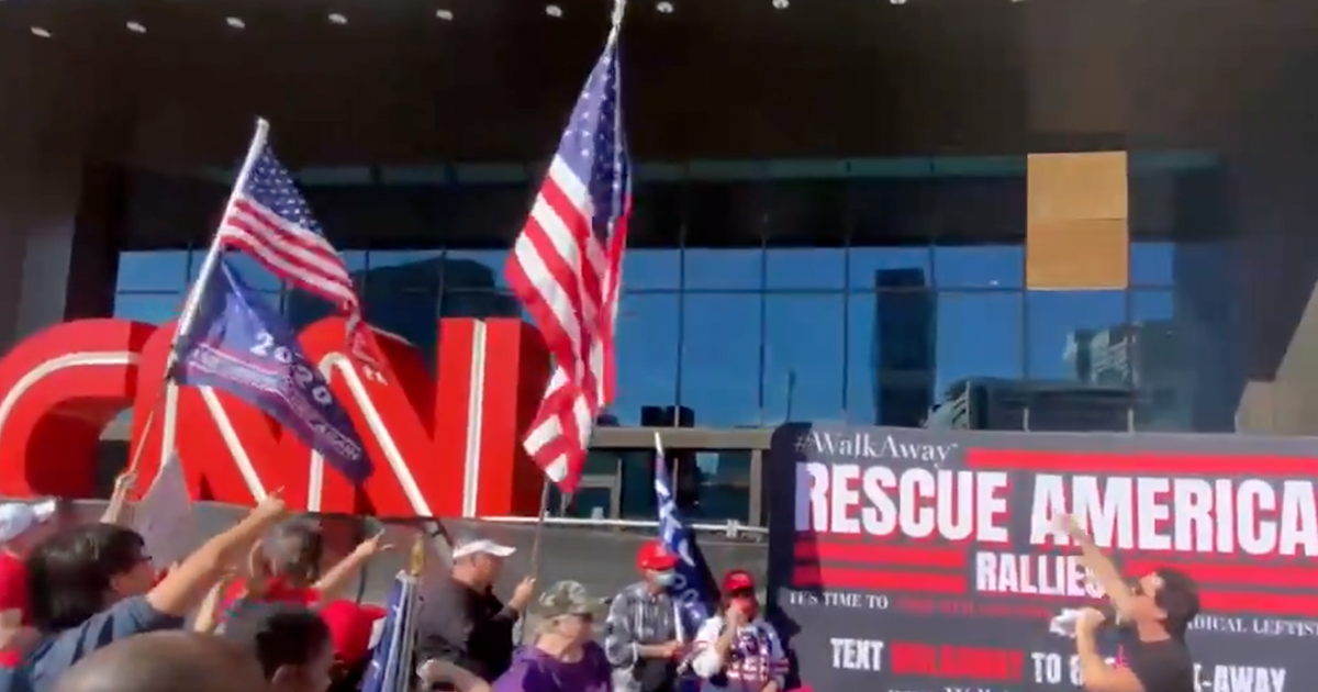 "WATCH: Trump supporters hold event outside CNN HQ in Atlanta, Chant ""CNN Sucks!"""