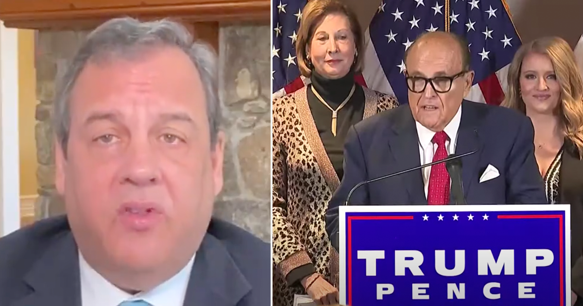 """WATCH: Chris Christie calls Trump's legal team a """"national embarrassment"""" says it's time for Trump to concede"""