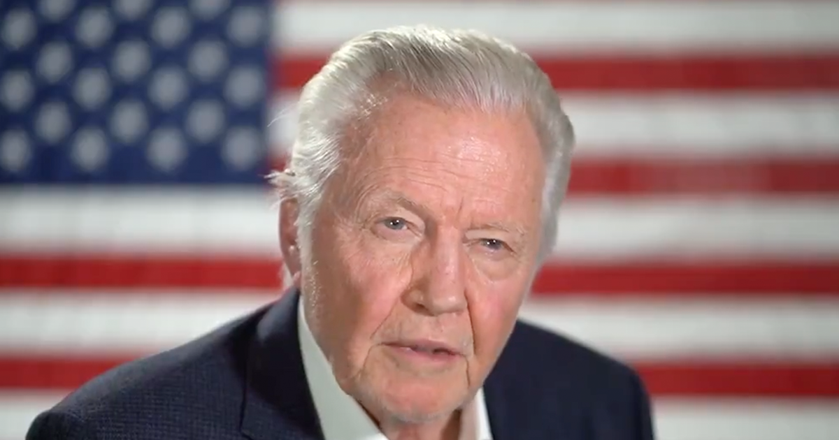 "WATCH: Jon Voight warns of ""great danger"" of Biden admin, calls CA Gov. Newsom ""a disgrace to mankind"""