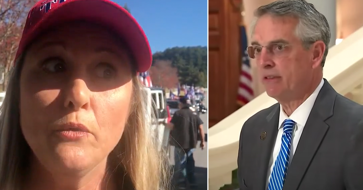 "WATCH: ""We are silent no more"" Trump supporters rally outside Raffensperger's home"