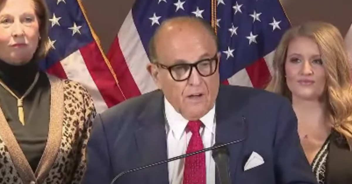"BREAKING VIDEO: Giuliani holds presser, claims evidence ""enough to overturn any election"""