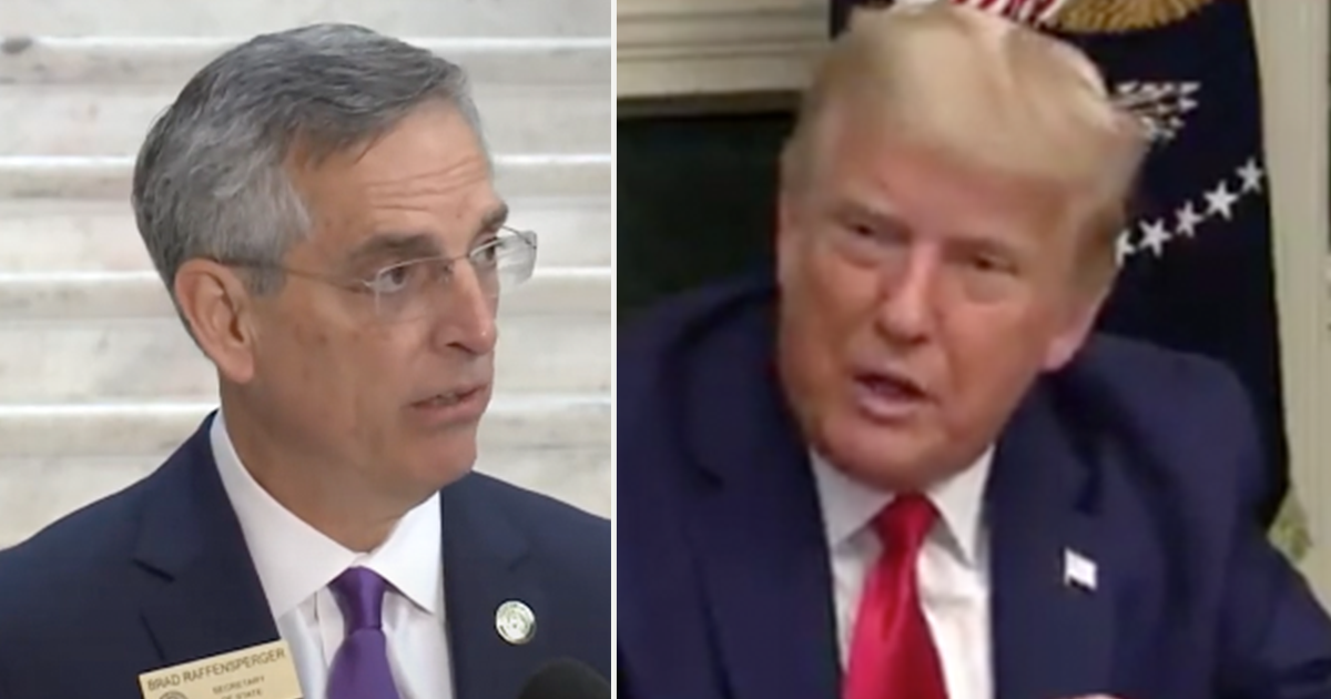 """WATCH: Trump calls Georgia Secretary of State an """"enemy of the people"""""""