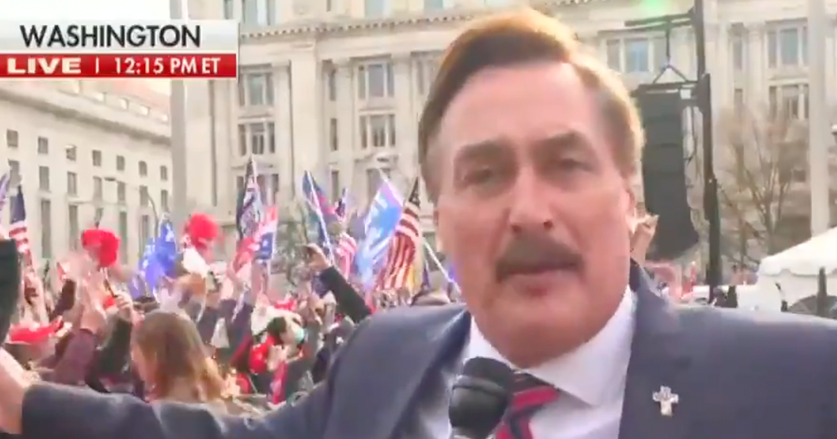 WATCH: MyPillow founder Mike Lindell speaks out at March for Trump
