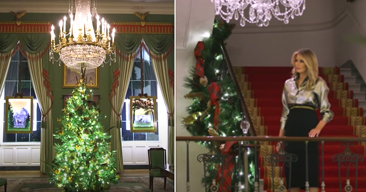 Trump critics fill Melania's feed with hateful comments after she unveils WH Christmas decorations