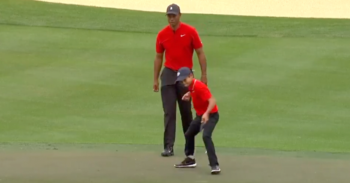 WATCH: Tiger Woods' 11 Year Old Son Steals the Show at PNC ...