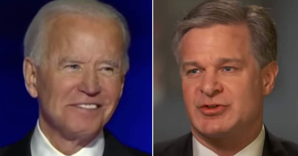 BREAKING: Biden Intends to Keep Wray as FBI Director, Schiff approves