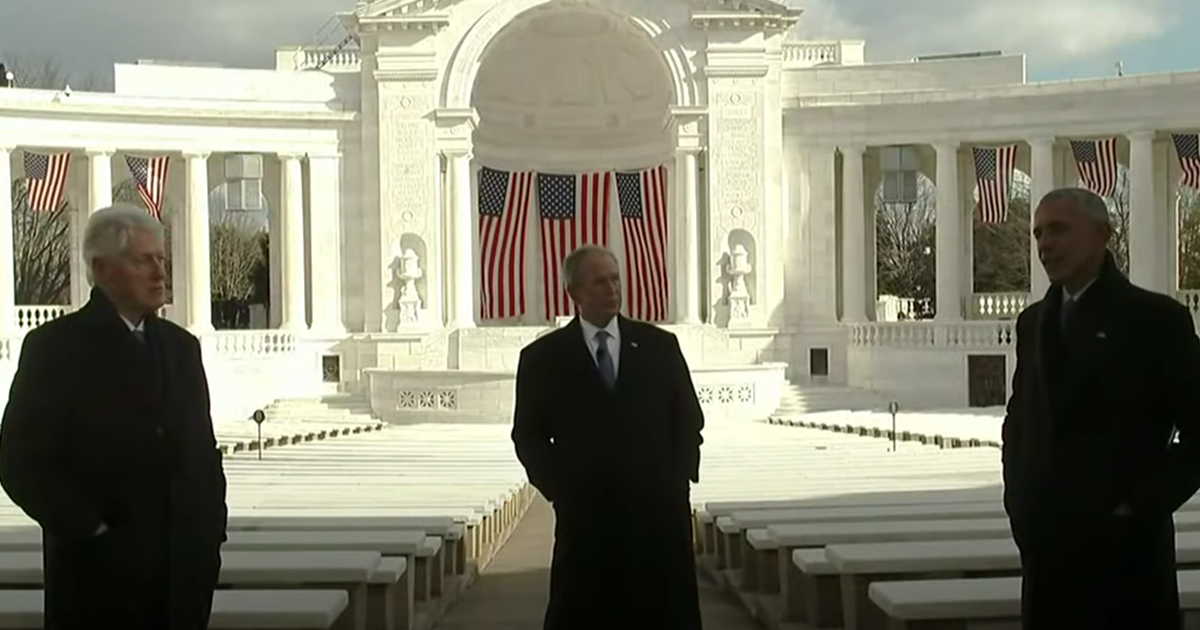 WATCH: Clinton, Obama, Bush offer joint inaugural message