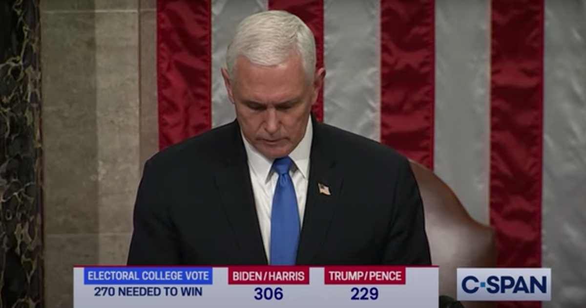 BREAKING VIDEO: Pence announces Biden been certified as next President  of the United States