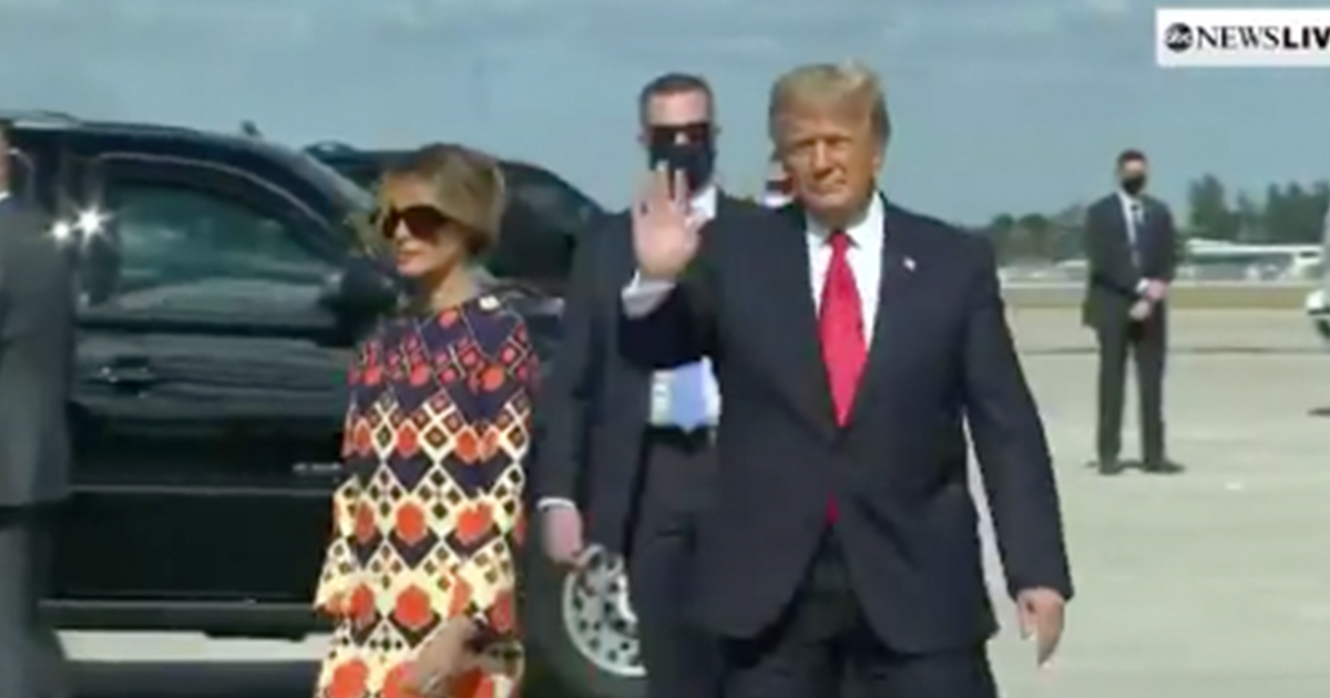 WATCH: Trump Arrives in Florida, Receives Warm Welcome from Supporters