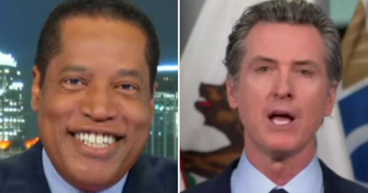 """WATCH: Newsom challenger Larry Elder says """"I think"""" Newsom is going down in recall election"""